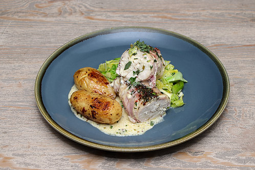 Chicken Breast wrapped in Bacon & Tarragon Cream Sauce - See further info