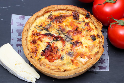Large Sun Blushed Tomato, Brie & Basil Quiche