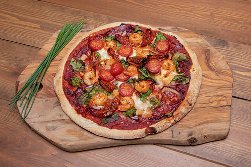 Piri Piri King Prawns Pizza