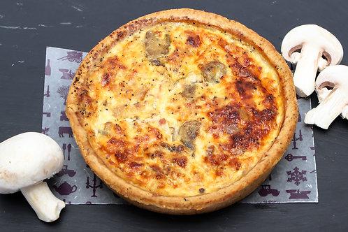 Large Ham, Mushroom & Cheddar Quiche