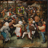 "On this overcast day, we're wishing we were celebrating with Bruegel's subjects in ""The Wedding Dance!"" In the last two weeks, we have amassed a lot of useful information related to the creation of the painting and the ways in which it has changed over time. See it back on view tomorrow. #WheresTheBruegel #PieterBruegelTheElder #artconservation"
