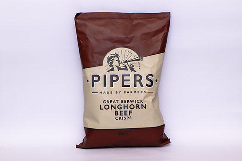 Pipers Great Berwick Longhorn Beef Crisps 150g