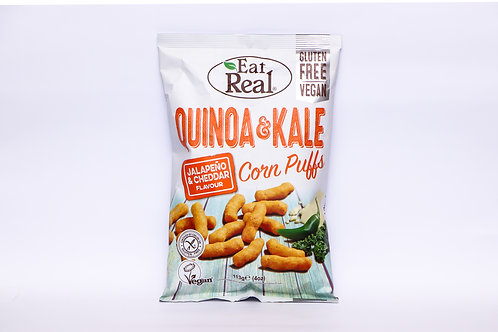 Eat Real Quinoa & Kale Jalapeno & Cheddar Corn Puffs 113g