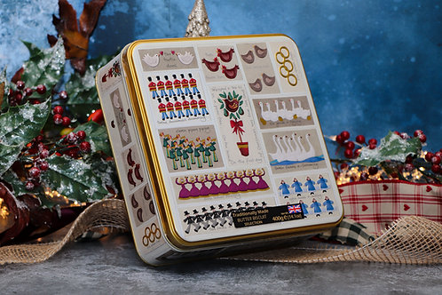 Farmhouse Biscuits 12 Days of Christmas Biscuit Tin