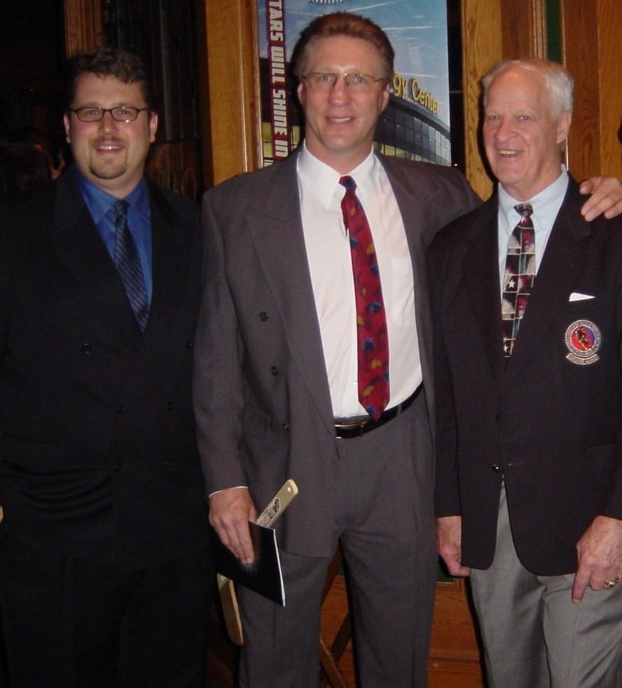 Gordie Howe, Jack Carlson and Mike