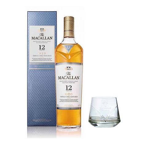 Macallan 12 Triple Cask + Vaso Roca