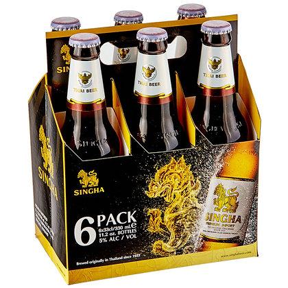 Cerveza Singha 6 Pack
