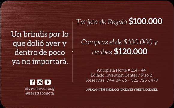 Bono de Regalo 100.000