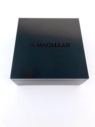 Caja Madera +Macallan + 2 Vasos + Molde de Hielo Esférico + Libro de Cata