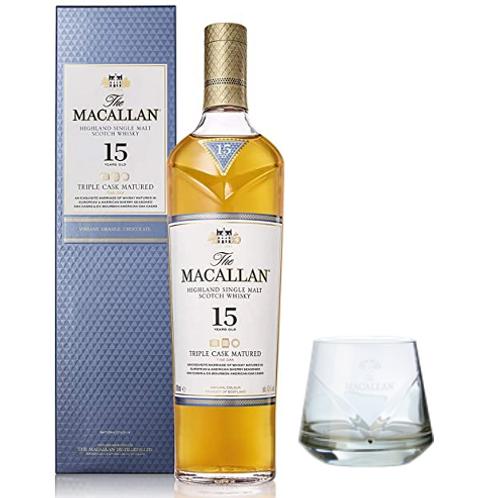 Macallan 15 Triple Cask + Vaso Roca