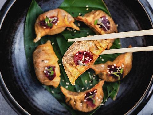 Dumplings de Cerdo con Hongos Silvestres