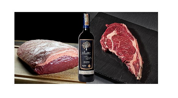 2 Cortes Premium + Vino