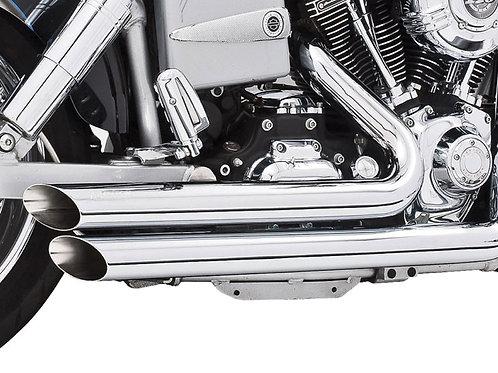 Amendment Exhaust – Chrome. Fits Dyna 2006-2017.