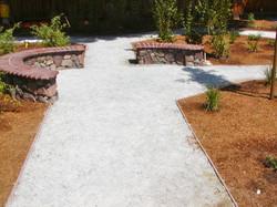 Mulch and Walkways