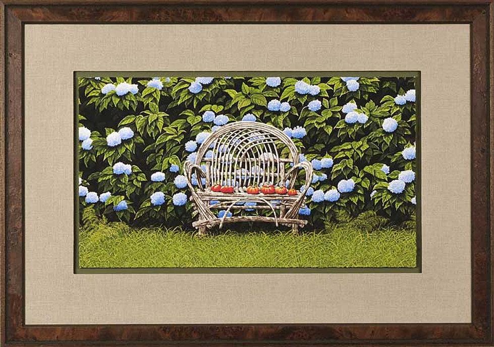 Original Hydrangeas Painting Bob Timberlake