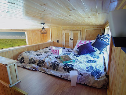 Overhead View of Tiny House Bedroom