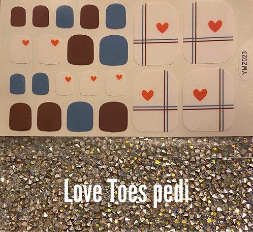 Love toes pedi