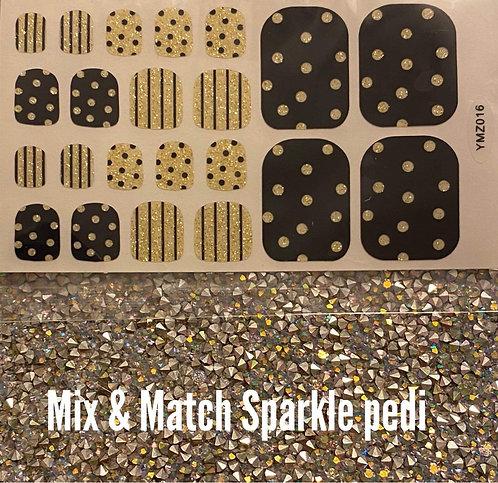 Mix & match sparkle pedi
