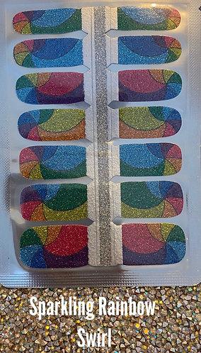 Sparkling rainbow swirl