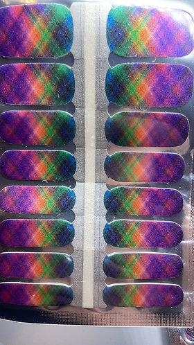 Neon Rainbow Plaid