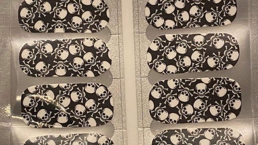 Skull and black