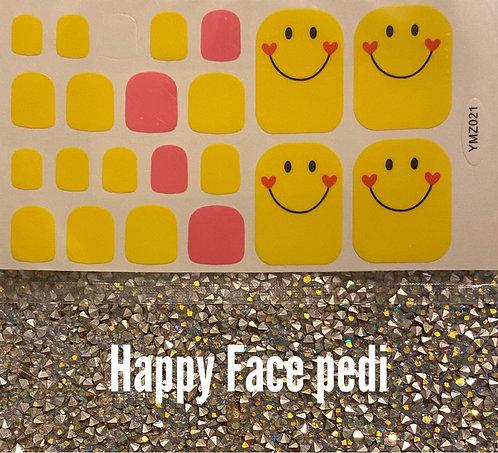 Happy face pedi