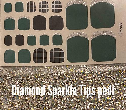 Diamond sparkle tips pedi