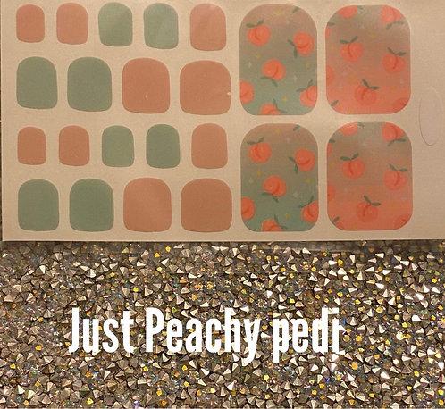 Just peachy pedi