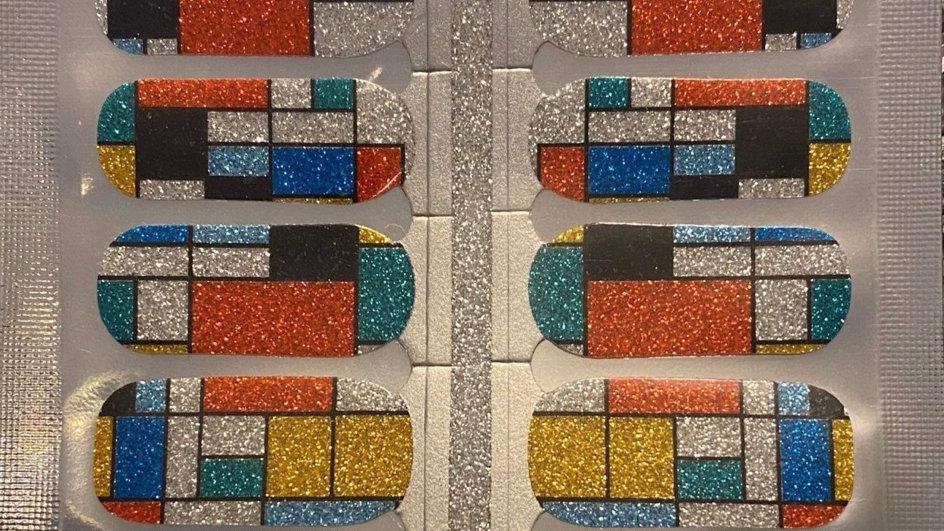 Color block sparkles
