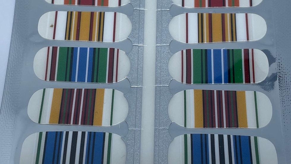 Colored stripe overlay