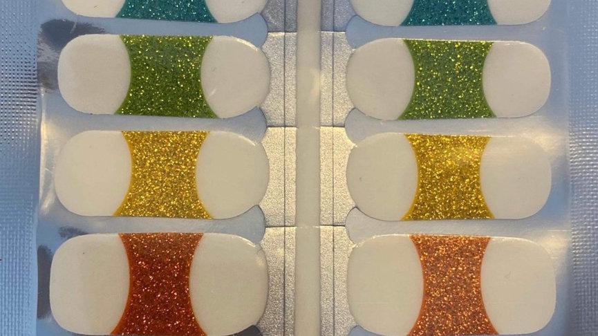 Sparkling rainbow tips