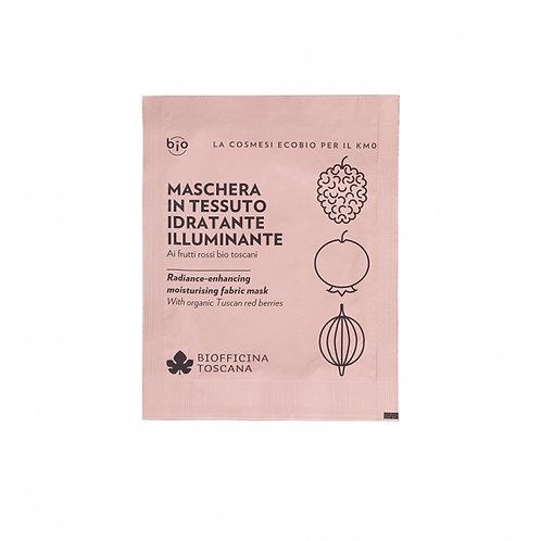 Maschera in tessuto idratante-illuminante- Biofficina Toscana