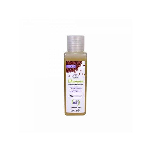 Shampoo Ricostituente e Idratante con Cheratina e Olio di Semi di Lino 100 ml -