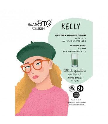 PuroBio Maschera viso Kelly peel off pelle secca- latte di spirulina
