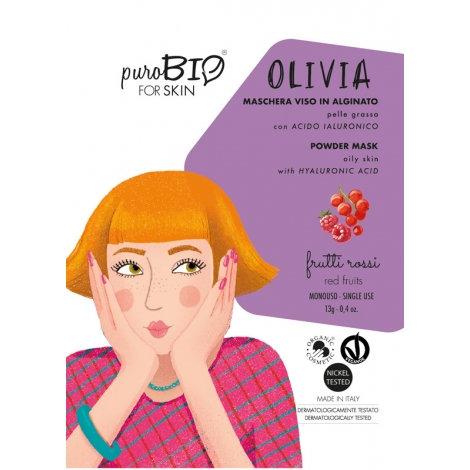 PUROBIO Maschera Viso OLIVIA Peel Off Pelle Grassa – Frutti Rossi
