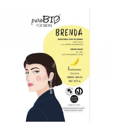 PuroBio Maschera viso in crema Brenda pelle secca- banana
