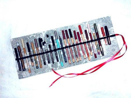 Porta matite make-up. Pencil roll in cotone