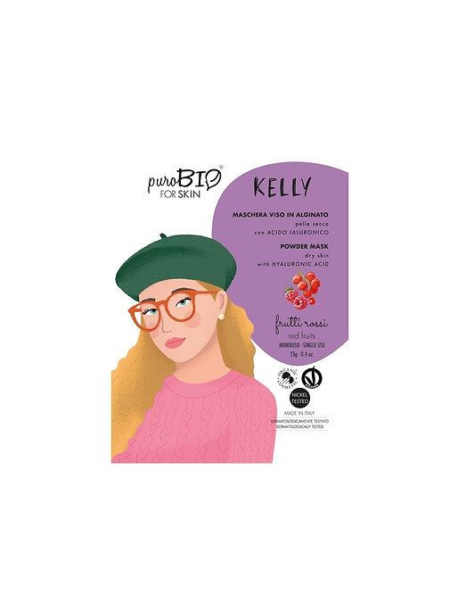 PuroBio Maschera Viso KELLY Peel off per Pelle Secca- Frutti Rossi
