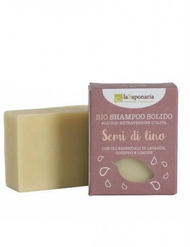 Shampoo solido ai semi di lino-La saponaria