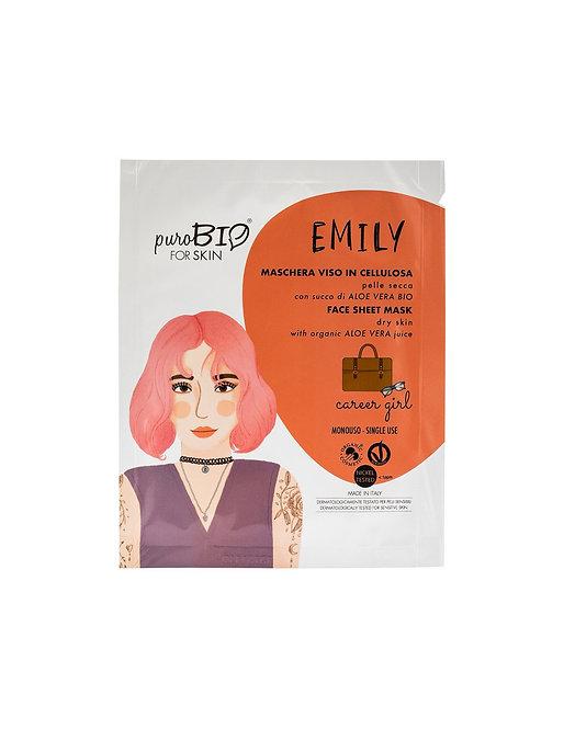 Maschera viso Emily in cellulosa-career girl- pelle secca