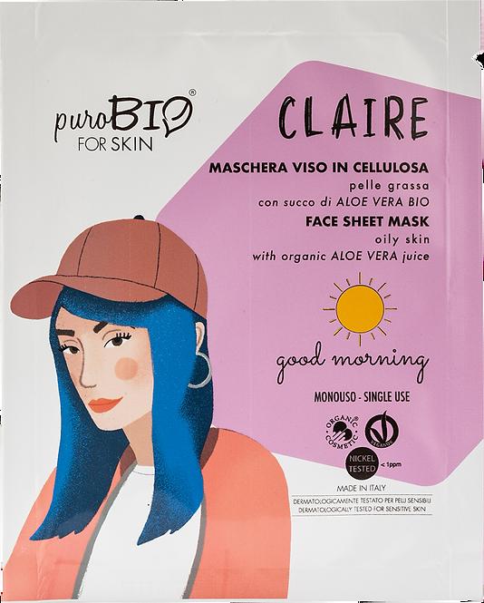 Maschera Viso Claire in cellulosa- goodmorning-pelle grassa