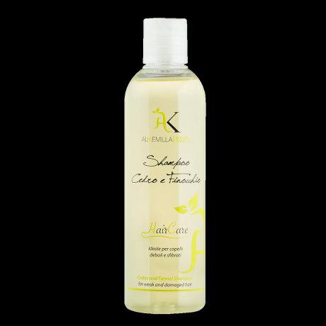 Shampoo Cedro e Finocchio ideale per capelli deboli e sfibrati- Alkemilla
