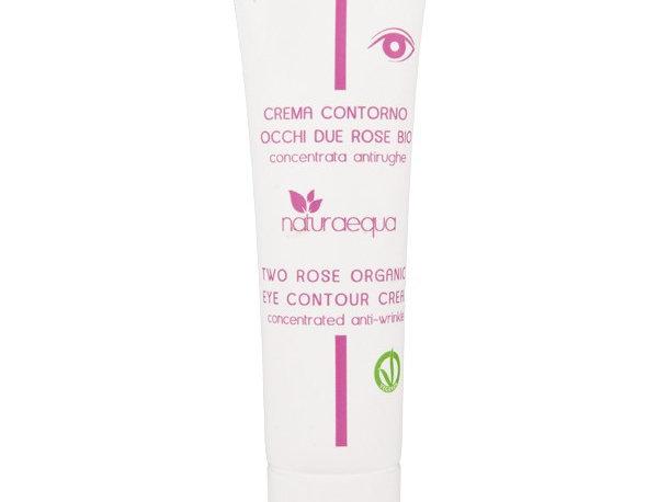 Crema Contorno Occhi Due Rose Bio - antirughe - 30ml