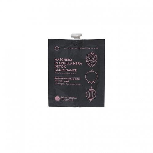 Maschera in argilla nera detox-illuminante- Biofficina Toscana