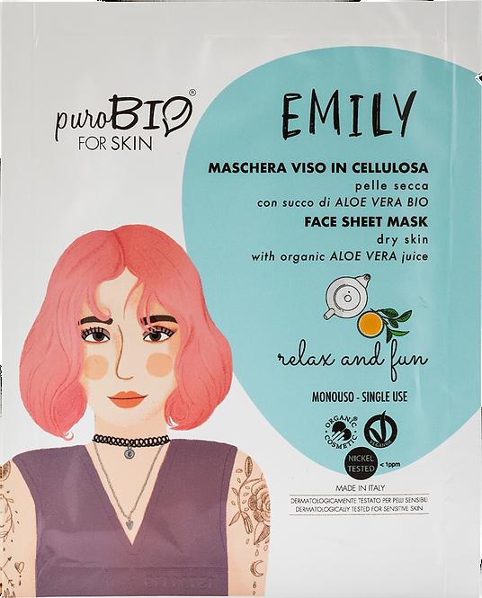 Maschera Viso Emily in cellulosa- relax and fun-pelle secca