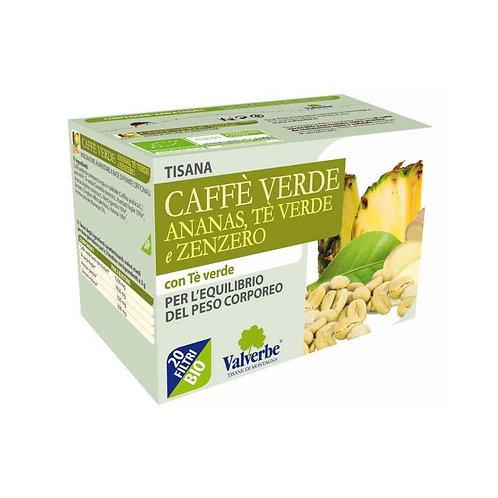 Tisana caffè verde ananas tè verde e zenzero Valverbe