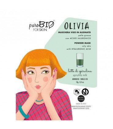 PuroBio Maschera viso Olivia peel off per pelle grassa- Spirulina