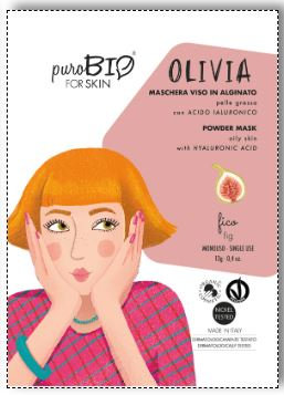 PuroBio Maschera viso Olivia peel off pelle grassa- Fico