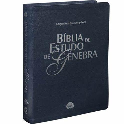 Bíblia de estudo Genebra- azul