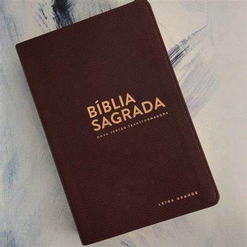 BÍBLIA NVT (LUXO) - LETRA GRANDE marrom